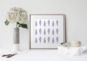 la Magie dans l'Image - print art glaces bleu mauve - Estampe