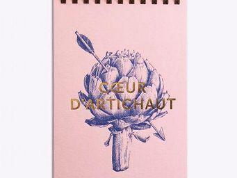 LES EDITIONS DU PAON - coeur d'artichaut rose - Bloc Notes