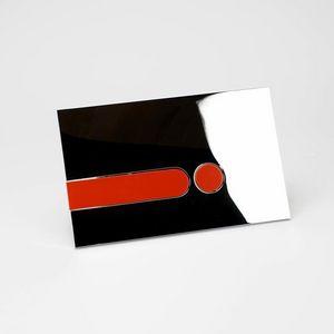 Rue du Bain - plaque chromée brillante + kit couleur - Plaque De Chasse D'eau