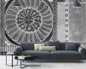 IN CREATION - india noir & blanc - Papier Peint Panoramique