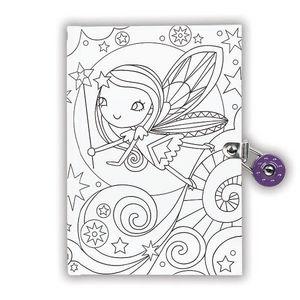 BERTOY - locked diaries fairy - Carnet De Coloriage