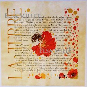 ELSA MILLET -  - Enluminure