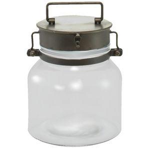 CHEMIN DE CAMPAGNE - bonbonnière bocal en verre et fer 20 cm - Bonbonnière
