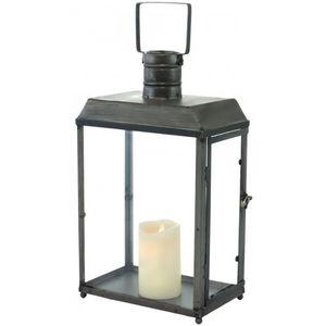 CHEMIN DE CAMPAGNE - lanterne tempête en métal fer rectangle campagne i - Lanterne D'intérieur