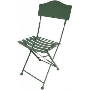 CHEMIN DE CAMPAGNE - chaise bistrot de jardin en fer pliable - Chaise De Jardin Pliante