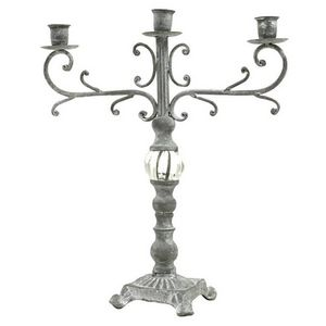 CHEMIN DE CAMPAGNE - bougeoir chandelier en fer et fonte de table - Chandelier