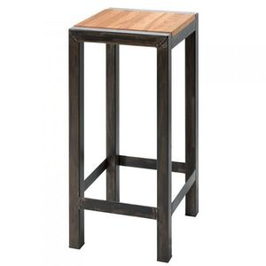 Mathi Design - tabouret de bar chêne - Tabouret De Bar