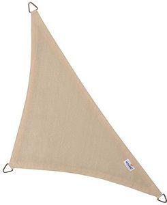 jardindeco - voile d'ombrage triangulaire coolfit crème porcel - Voile D'ombrage