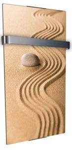 CHEMIN'ARTE - radiateur sèche serviette électrique design sable - Radiateur Sèche Serviettes Rayonnant