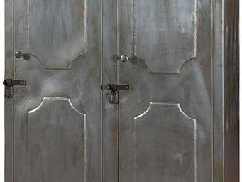 Antic Line Creations - vestiaire d'atelier 2 portes en fer - Vestiaire