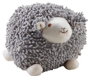 Aubry-Gaspard - mouton à suspendre en coton gris shaggy moyen modè - Peluche