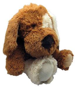 Aubry-Gaspard - peluche chien en acrylique brun 30 cm - Peluche