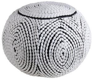 Aubry-Gaspard - pouf boule en polyester - Pouf