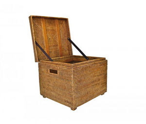 ROTIN ET OSIER - renforts bois sib - - Coffre