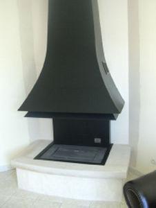 Jean Magnan Cheminees - cr�ation design - Chemin�e � Foyer Ferm�