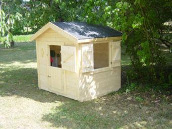 BARCLER - maison enfant pitchoun 1.8m² en epicéa brut - Maison De Jardin Enfant