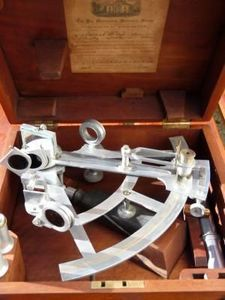 La Timonerie Antiquités marine - sextant stanley silver 1894 - Sextant