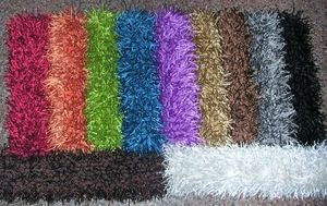 Red Rugs - polyester shaggy - Tapis Shaggy