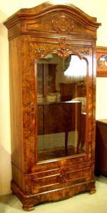 ANTICUARIUM - walnut armoire vitrine - Armoire Vitrine