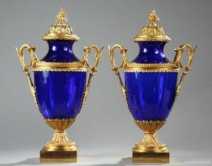 Galerie Atena - vases en verre - Paire De Cassolettes