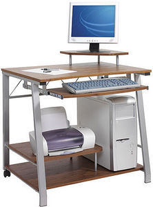 Jsi - detroit walnut workstation - Meuble Ordinateur