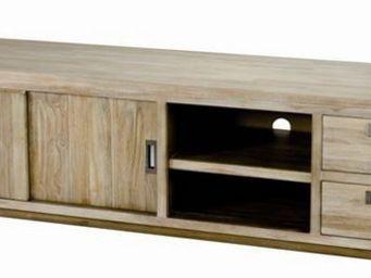 MEUBLES ZAGO - meuble télé 2 portes coulissantes 2 niches 2 tiroi - Meuble Tv Hi Fi