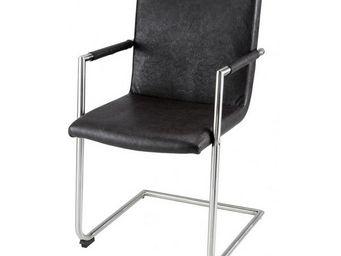MEUBLES ZAGO - chaise tokyo avec accoudoirs - lot de 4 - marron - Fauteuil