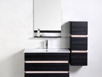UsiRama.com - meuble salle de bain en chêne massif stratum 80cm - Meuble De Salle De Bains