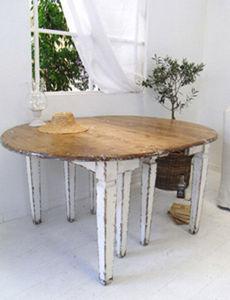 BLEU PROVENCE - vintage white - Table À Rallonge
