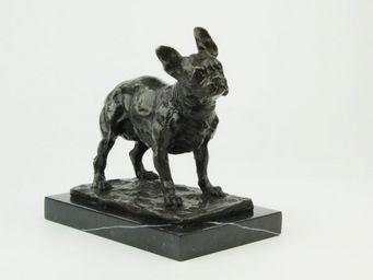 Benneton - bouledogue fran�ais - Sculpture Animali�re