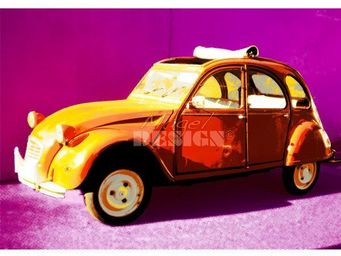 Magel'design - 2cv pop 120x90 cm , 3d effet relief - Tableau Contemporain