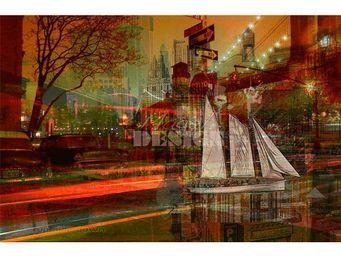 Magel'design - brooklyn up side down 120x80 cm , 3d effet relief - Tableau Contemporain