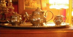 Art & Antiques - ensemble à thé en étain alimentaire - Service À Thé