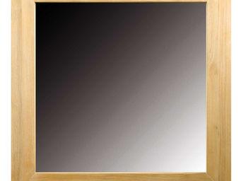 ZAGO - miroir carre en teck - Miroir