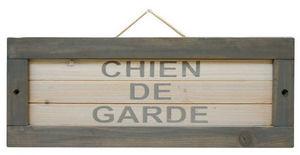 ZOLUX - plaque en bois chien de garde 40x2,5x15cm - Plaque De Porte