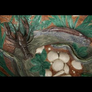 Expertissim - ecole de tours. grand plat ovale à décor de crusta - Plat De Présentation