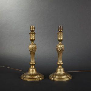 Expertissim - paire de flambeaux d'époque louis xvi - Flambeau