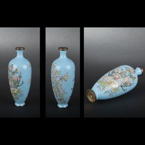Expertissim - vase en cuivre et émaux cloisonnés - Vase À Fleurs