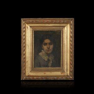 Expertissim - jobbe-duval. portrait de jeune femme, 1881 - Portrait