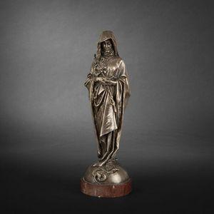 Expertissim - vierge en bronze par fremiet - Statuette