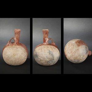 Expertissim - cruche en céramique à décor en surimpression d'un - Objet D'art Précolombien