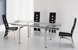Smart Boutique Design - table en verre a rallonge extensible 200/140 x 90  - Table De Repas Rectangulaire