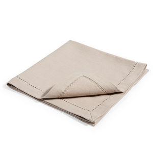 Maisons du monde - serviette unie souris - Serviette De Table