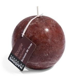 Maisons du monde - bougie boule chocolat - Bougie Ronde