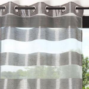 Maisons du monde - rideau organza m�tal - Rideaux � Oeillets