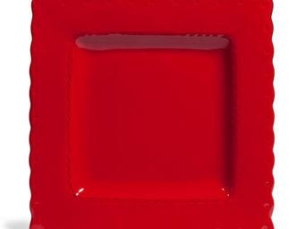 Maisons du monde - assiette plate gastronome rouge - Assiette Plate