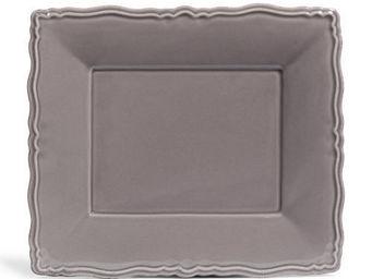 Maisons du monde - assiette plate marquise grise - Assiette Plate
