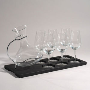 Maisons du monde - support 6 verres + carafe - Porte Verres