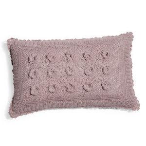 Maisons du monde - coussin crochet lilas - Coussin Rectangulaire