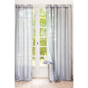 Maisons du monde - rideau organza gris double - Rideaux À Oeillets